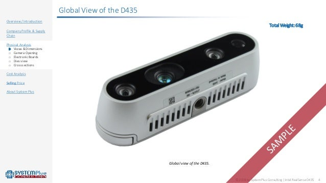 Intel RealSense D435 3D Active IR Stereo Depth Camera 2018