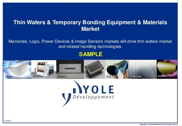 © 2012  Copyrights © Yole Développement SA. All rights reserved.  Thin Wafers & Temporary Bonding Equipment & Materials  M...