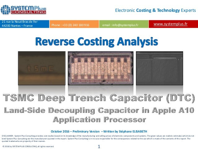 TSMC Deep Trench Capacitor Land-Side Decoupling Capacitor in Apple's …