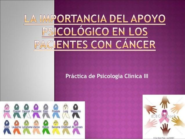 Práctica de Psicología Clínica III