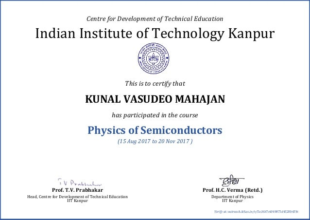 IIT Free Certificate