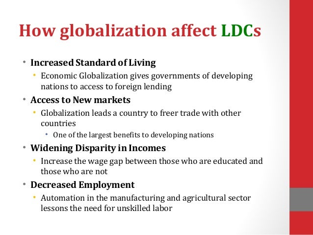 the benefits of globalization for developing countries