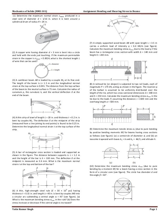 Assignment shear and bending