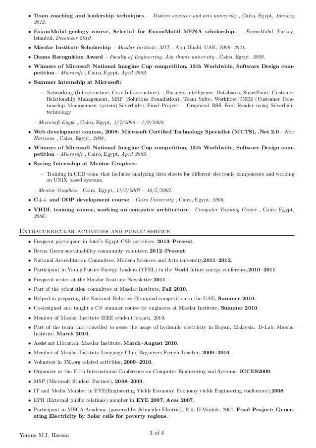 exxonmobil resume