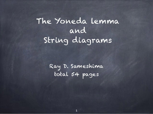 The Yoneda lemma  and  String diagrams  Ray D. Sameshima  total 54 pages  1