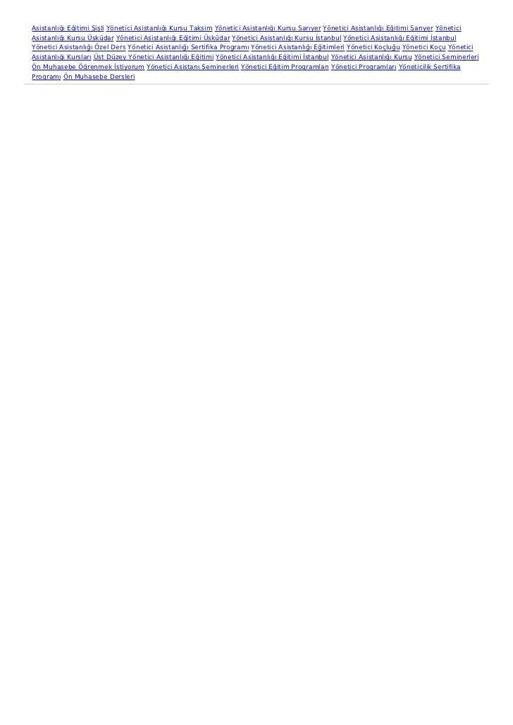 Asistanlığı Eğitimi Şişli Yönetici Asistanlığı Kursu Taksim Yönetici Asistanlığı Kursu Sarıyer Yönetici Asistanlığı Eğitim...