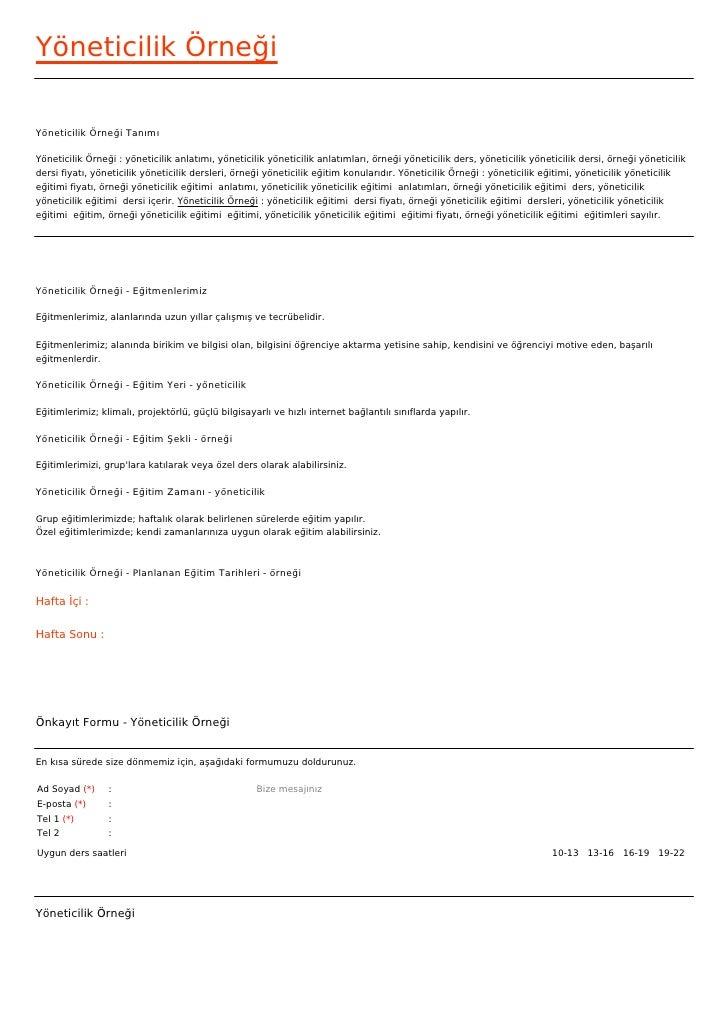 Yöneticilik ÖrneğiYöneticilik Örneği TanımıYöneticilik Örneği : yöneticilik anlatımı, yöneticilik yöneticilik anlatımları,...