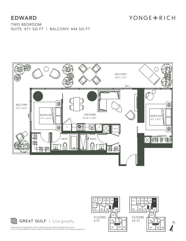 Yonge and rich floorplans for 18 yonge floor plan