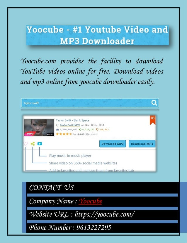 Yoocube: Free YouTube Video and Mp3 Downloader