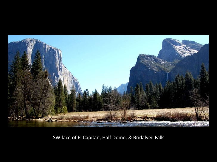 YOSEMITE VALLEY<br />SW face of El Capitan, Half Dome, & Bridalveil Falls<br />