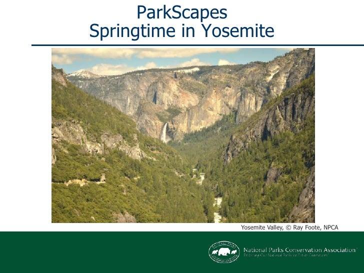 ParkScapesSpringtime in Yosemite<br />Yosemite Valley, © Ray Foote, NPCA<br />