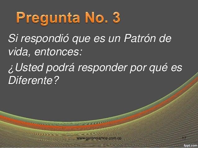 ¿Cuál es TU Diferencia?  www.gerenciamos.com.co 18