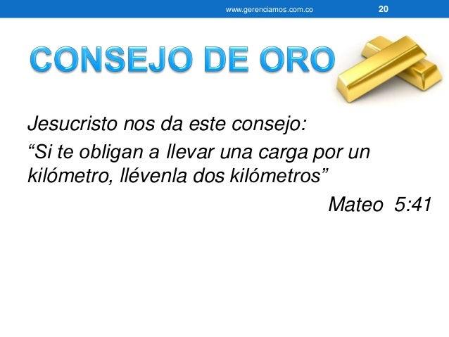 www.gerenciamos.com.co 21  • Un Kilometro MÁS…Significa Agregar Valor  • ¿En qué actividades de su vida AGREGA VALOR?  • ¿...