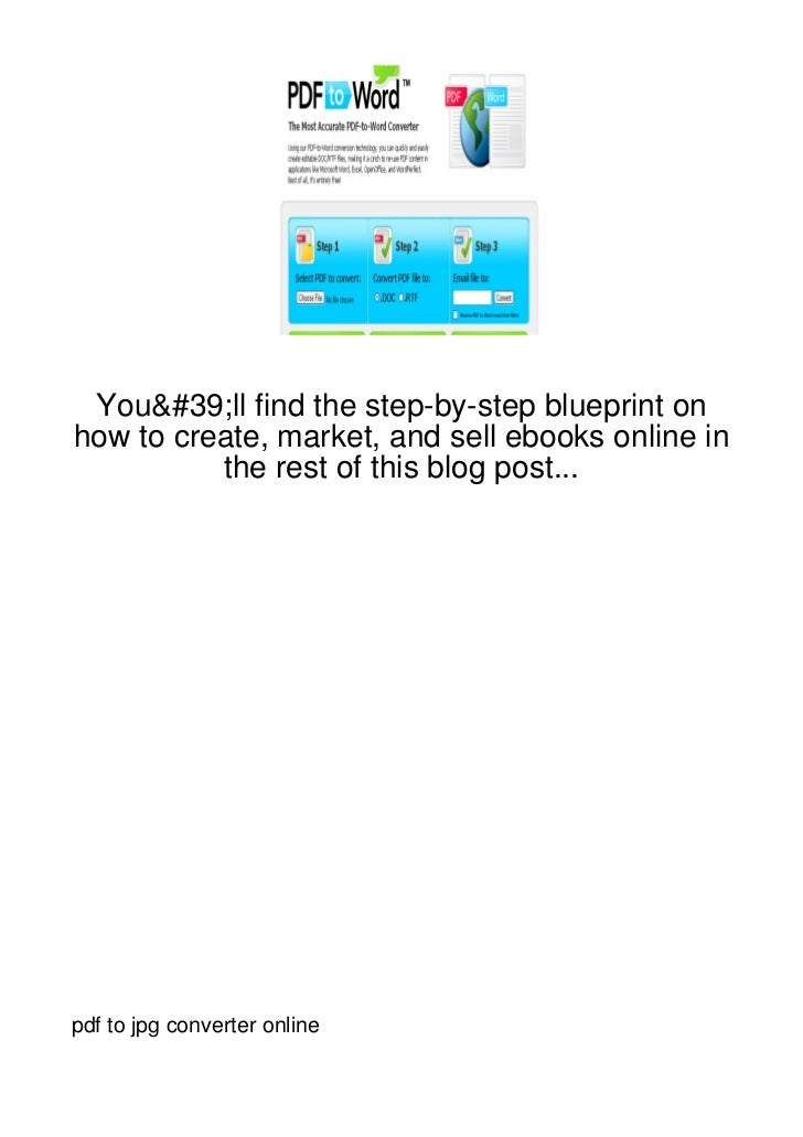You'll find the step-by-step blueprint onhow to create, market, and sell ebooks online in          the rest of this blog p...
