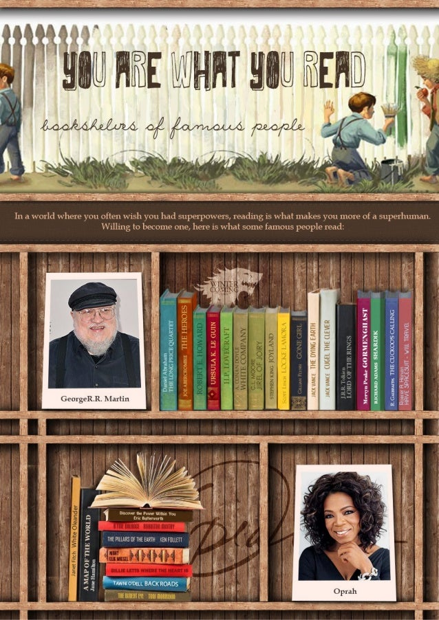 You Are What You Read: Bookshelves of Famous People [Infographic]