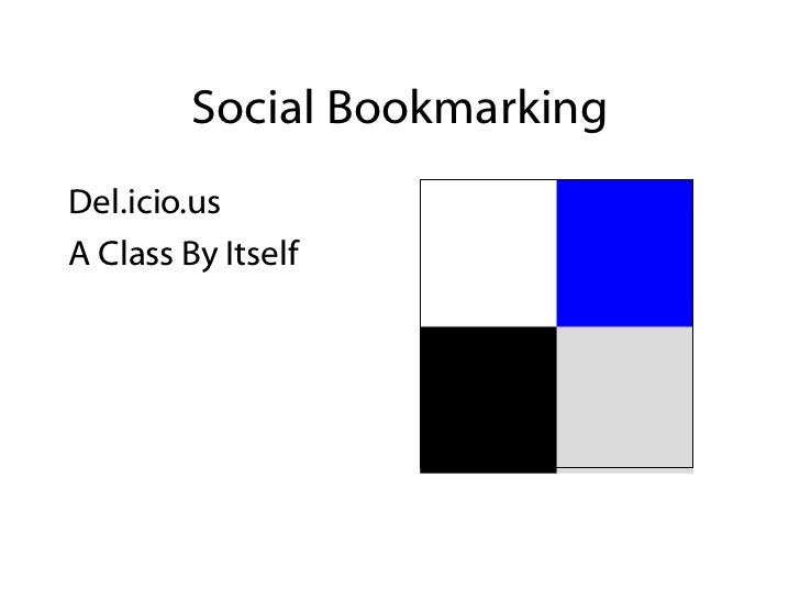 Social Bookmarking <ul><li>Del.icio.us </li></ul><ul><li>A Class By Itself </li></ul>