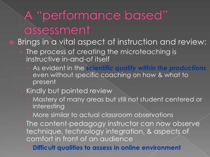 """A """"performance based"""" assessment<br />Brings in a vital aspect of instruction and review: <br />The process of creating th..."""