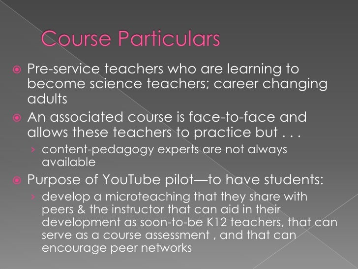 Course Particulars<br />Pre-service teachers who are learning to become science teachers; career changing adults <br />An ...