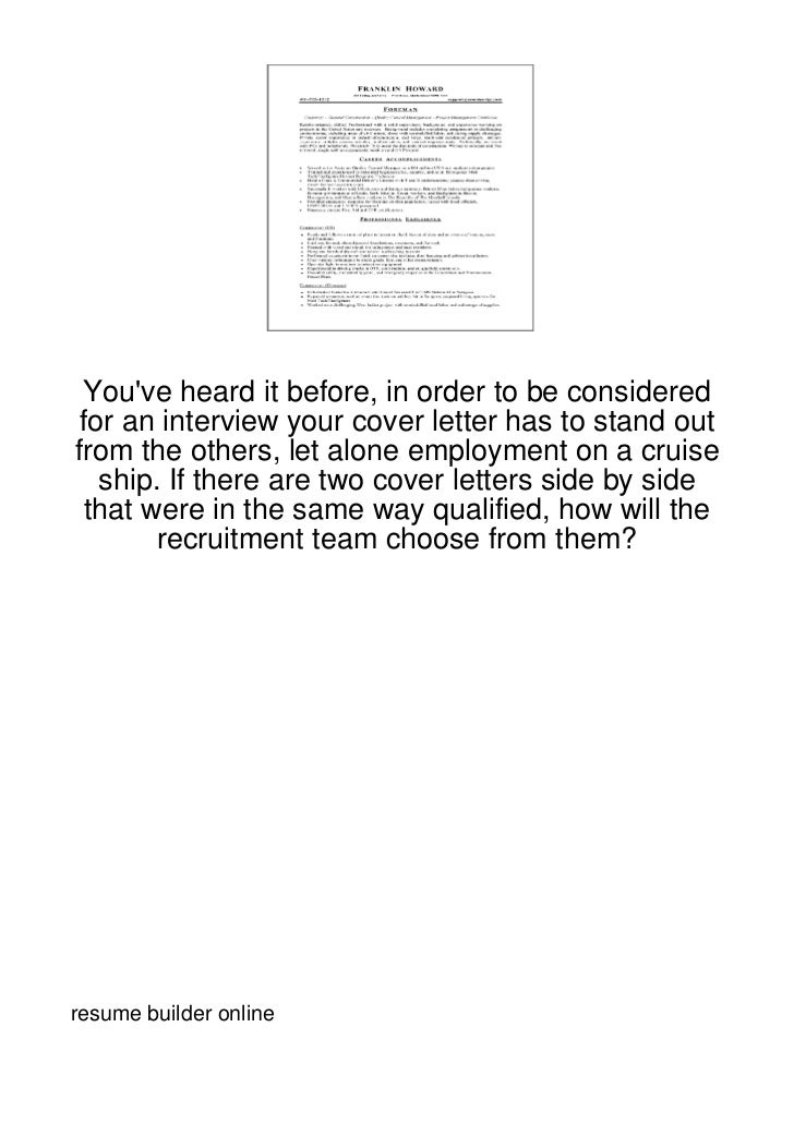 Youve heard it before, in order to be considered for an interview your cover letter has to stand outfrom the others, let a...