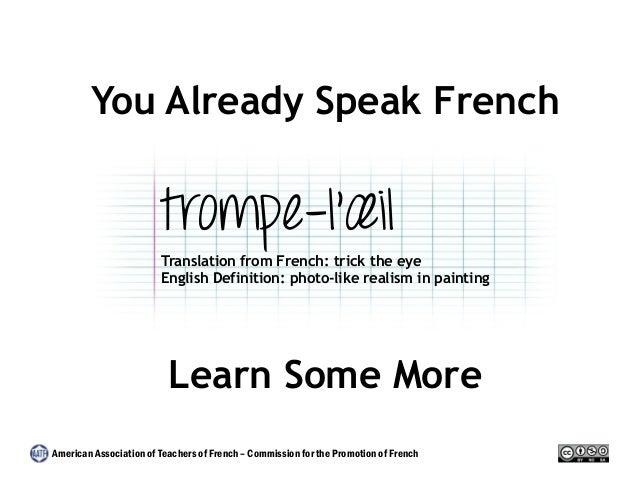 You Already Speak French