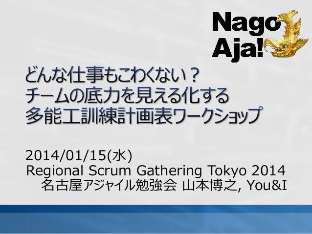 2014/01/15(水) Regional Scrum Gathering Tokyo 2014 名古屋アジャイル勉強会 山本博之, You&I