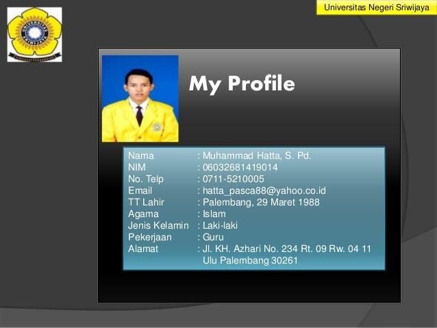 membuat biodata diri dan prof zulkardi serta profil tempat