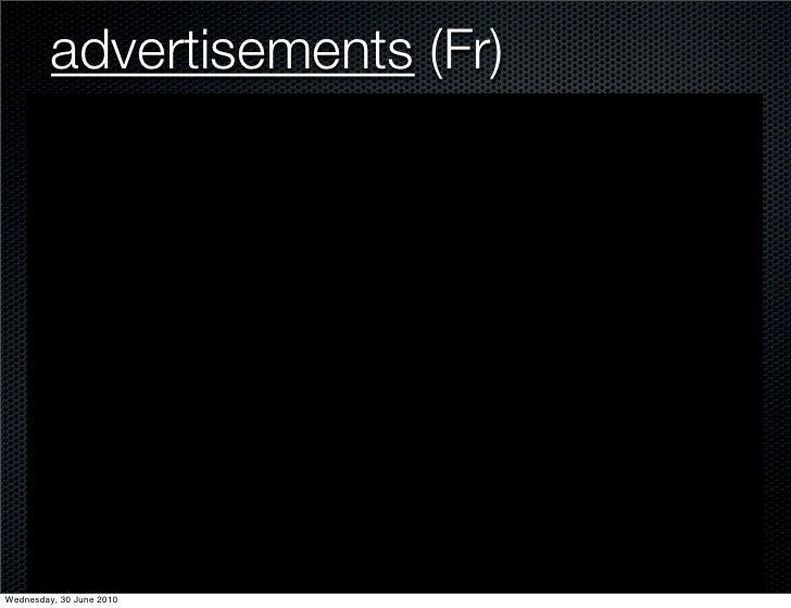 advertisements (Fr)     Wednesday, 30 June 2010