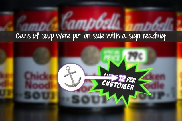 whereas buyers with limits of 12 purchased an average of 7 cans of soup. shoppers who bought soup from the display with no...