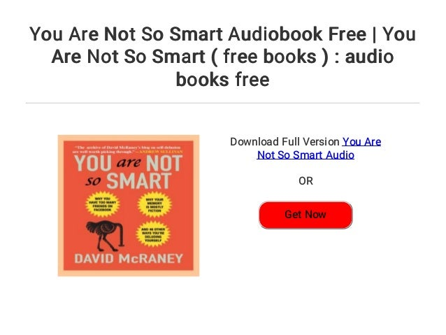you are not so smart audiobook free