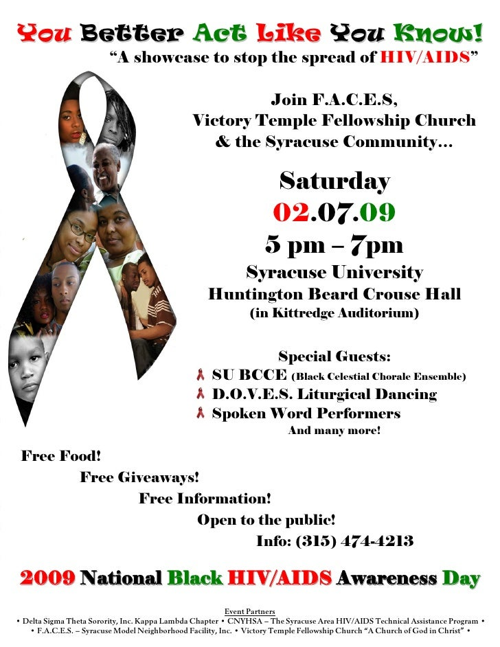 """You Better Act Like You Know!                          """"A showcase to stop the spread of HIV/AIDS""""                        ..."""