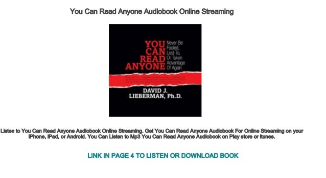 You Can Read Anyone Audiobook Online Streaming