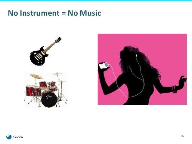 16  No  Instrument  =  No  Music