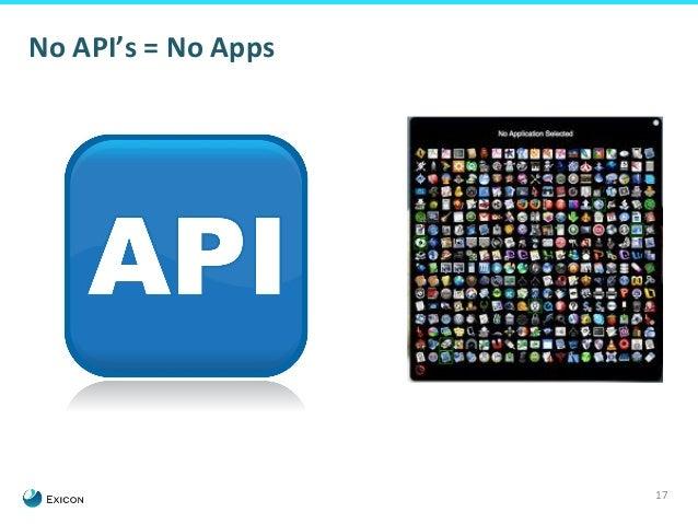 17  No  API's  =  No  Apps