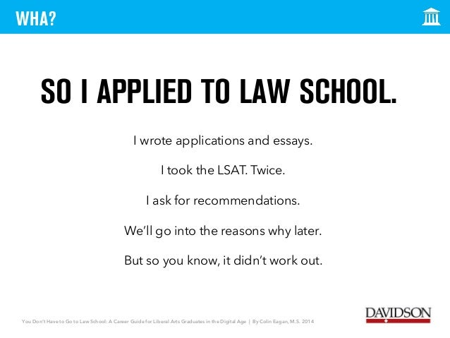 attend law school essay Citywide law group is offering a $1,500 scholarship to an aspiring or current law student discuss any adversity you had to overcome to attend law school upload your essay (pdf only) how did you hear about our scholarship (required.