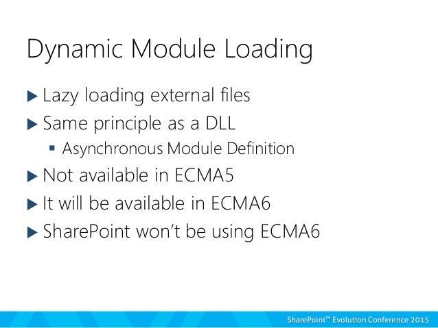 using ecma6 14 dynamic module loading scripts on demand