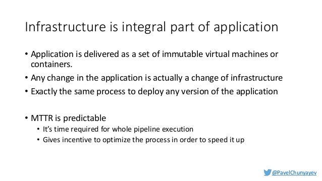 @PavelChunyayev Deliverables • Server images (AMIs) or containers should be built using automated CI/CD process • Base ima...