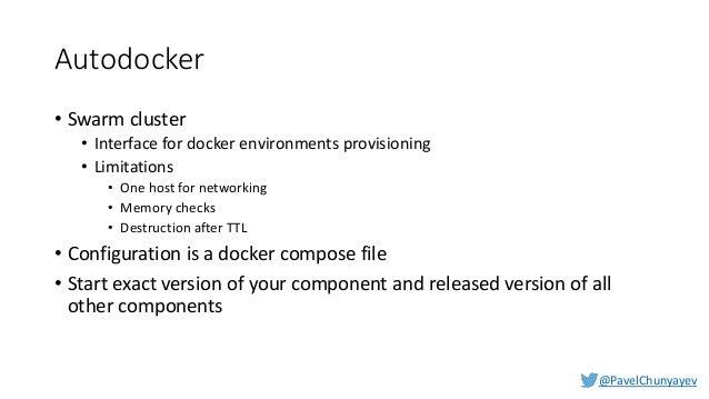 @PavelChunyayev Autoconfig APIs • GET /api/stacks - List stacks available for provisioning • GET /api/environments - List ...