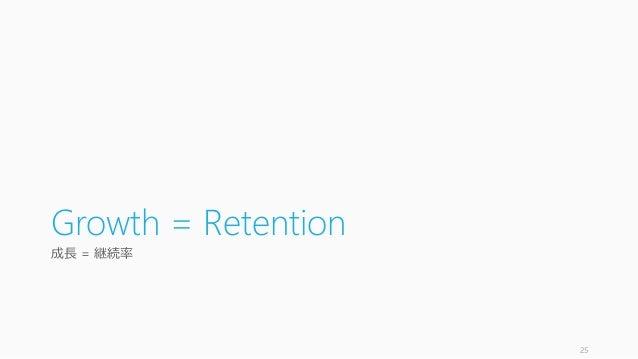 Growth = Retention 成長 = 継続率 25