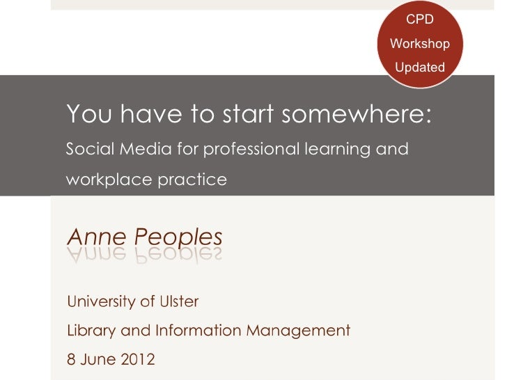 CPD                                       Workshop                                        Updated                         ...