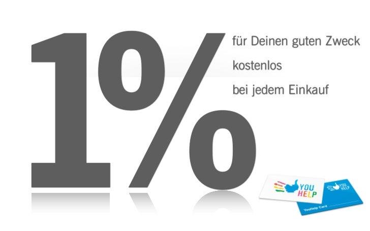 1% für Deinen guten Zweck kostenlos bei jedem Einkauf