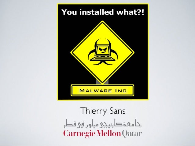 Malware Inc Thierry Sans