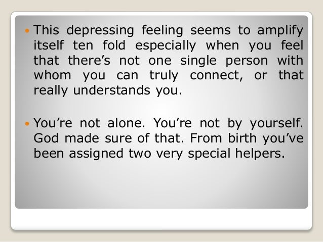 How to not feel lonely