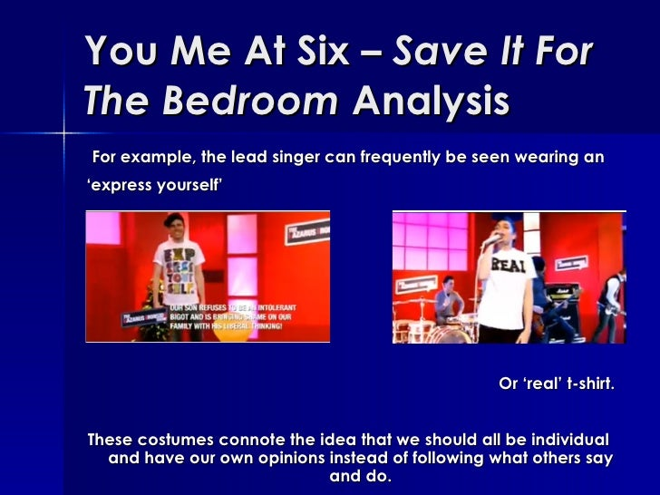 you me at six save it for the bedroom analysis