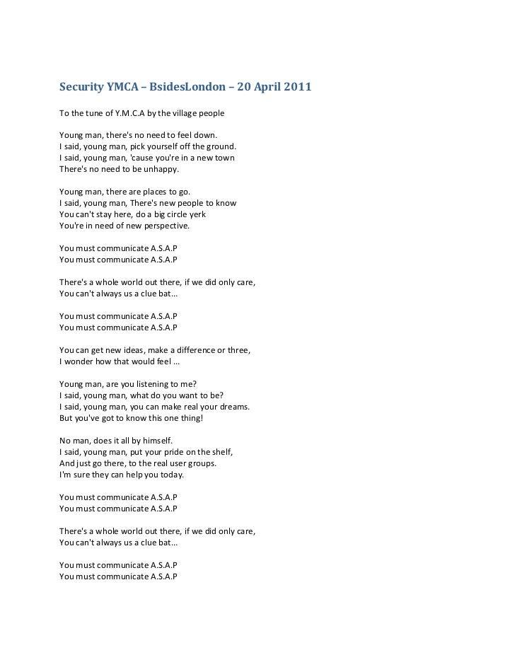 YMCA-Lyrics