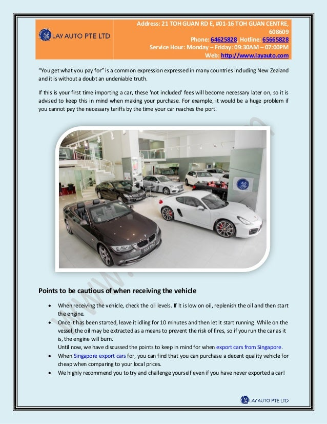 You must know in order to export used cars from singapore