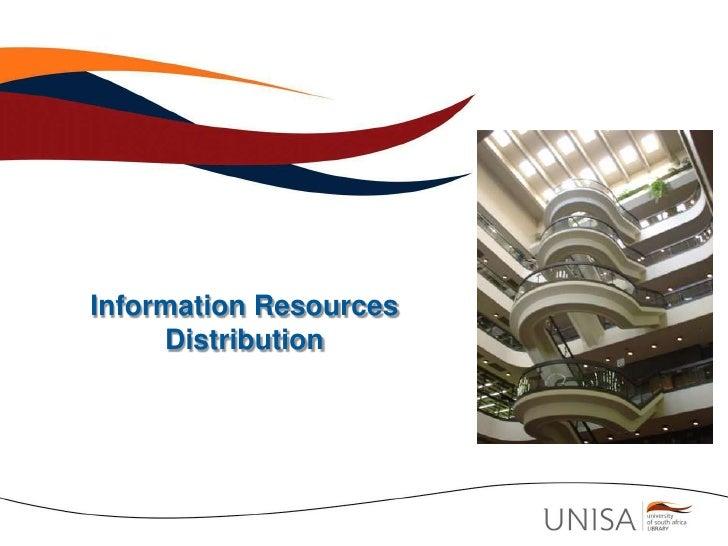 Information Resources Distribution<br />