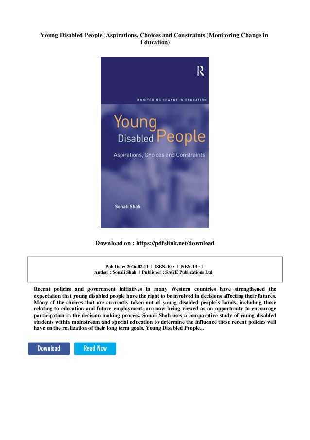 Young Disabled People (Monitoring Change in Education)