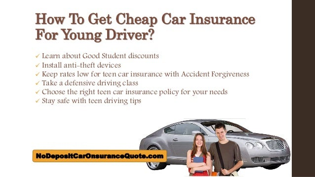 Car Insurance Quotes Cheap Young Drivers