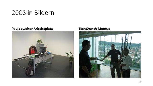 2008 in Bildern Pauls zweiter Arbeitsplatz TechCrunch Meetup 19