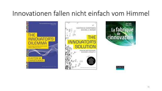 Innovationen fallen nicht einfach vom Himmel 31